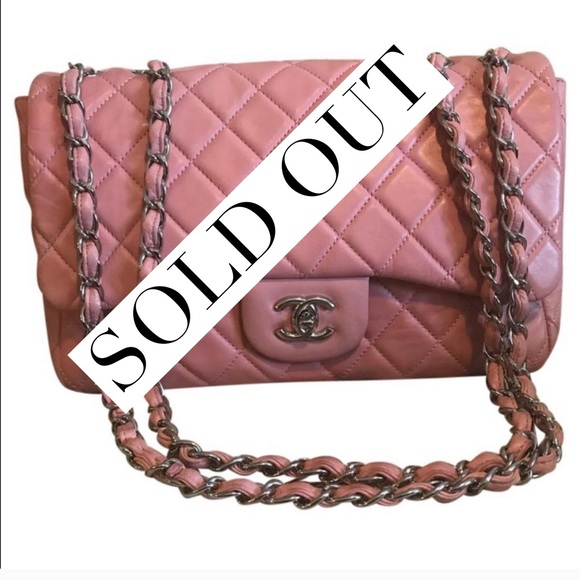 aaa88878f69759 CHANEL Bags | 100 Authentic Classic Flap Jumbo Pink Ghw | Poshmark